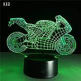 Wangzj 3d nachtlicht motorrad modell led nachtlicht schreibtisch tischlampe wohnkultur bunte kinder...