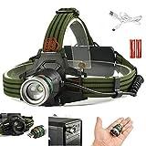 Army Green Tactical Scheinwerfer LED Laptop Licht USB Lade New-Q5 Scheinwerfer Mehrzweck...