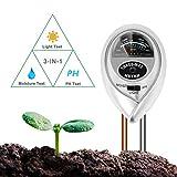 BIFY Bodentester,Boden Feuchtigkeit Meter,3 in 1 Bodentester für Feuchtigkeit/Sonnenlicht/pH-Tester...