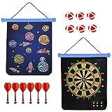 Wuudi Dartscheibe Kinder, Safe Dart Game, Kinderspiel Dart Board mit 6 Pfeile und 6 Bällen,...
