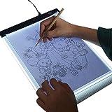 biteatey Tragbares Lichtpad A4 LED Leuchttisch Leuchtplatte LED Zeichenpad Einstellbare Hettigkeit...
