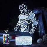 Omega 3D LED Lampe mit Motiven aus festungslampe, 3d illusion lampe Stimmungslampe, Battle Royale,...