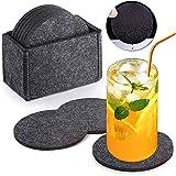 Aiskki Untersetzer Filz Dekoration für Gläser, Filzuntersetzer Coasters Set Getränke-untersetzer...