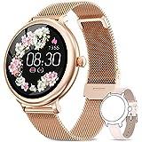 AIMIUVEI Smartwatch Damen,Fitness Tracker IP68 Wasserdicht Smart Watch mit Aktivitätstracker...
