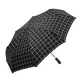 Nff Regenschirm, Automatische Winddichte Reise-Karierter Faltender Regenschirm 8-Bone-kompakter...