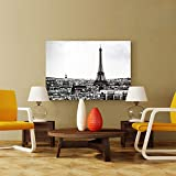 BESTSOON Dekorative Malerei Hotel Wand-Dekor Industrie Vintage Style Dekorative Malerei Eiffelturm...