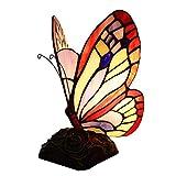 CLCZJFXDLYJTD Tischlampe mit Schmetterlingsglas, Augenschutz, Lampenhalter aus Harz, kreatives...