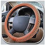 wyingj Ice Silk Lenkradbezug atmungsaktiv Auto Mikrofaser Leder Auto Griff Cover 4