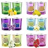 mreechan Duftkerze,Aroma Kerzen,Duftkerze Glas Dosenkerzen 100% Sojawachs Aromatherapie Kerzen Groß...