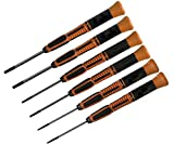 Torx-Schraubendreher-Set, 6-teilig, Inhalt T6, T7, T8, T9, T10, T15, Klingenlänge 50 mm, Länge 150...