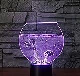 Nachtlicht 3D Aquarium Chi Ld 3D bunte Geschenk dekorative dekorative Geschenk Dekoration Geschenk...