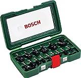 Bosch 15tlg. Frser Set (Holz, Zubehrt fr Oberfrsen mit 8 mm Schaft)