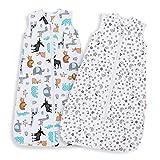 Lictin Schlafsack Baby Sommerschlafsack Babyschlafsack Einstellbar 70-90cm für Neugeborene 3-18...
