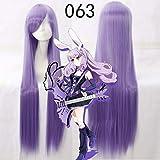 GJBXP Biamoxer Anime Show by Rock Cosplay Perücke Plasmagica Chuchu 100cm lang hellviolett violett...