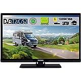 Telefunken T24X720 mobil LED Fernseher TV 24 Zoll 61 cm, WideScreen Bilschirm, DVB-C (Kabel digital)...