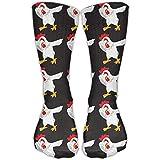 Nifdhkw Unisex Casual Crew Socks Dabbing Chicken Funny Fashion Novelty Socks