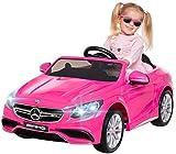 Kinder Elektroauto Mercedes Amg S63 - Lizenziert - 2 x 45 Watt Motor – Ledersitz - Sd-Karte –...