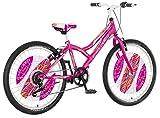 breluxx 24 Zoll Kinderfahrrad Mountainbike Hardtail Explorer Daisy Sport pink, 6 Gang - Made in EU