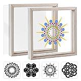 Pajaver Glasmalerei DIY Kit, Glasmalerei Kit mit Rahmen, Creative Hobbies Kit für Ewachsene Kinder,...