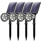 Mpow 4 Stcke 6 LED Garten Solarleuchten, Outdoor Wandleuchte, Litom(Untermarke von Mpow)Helle Garten...