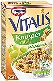 Dr. Oetker Vitalis Knuspermüsli klassisch, Knuspriges Frühstücksmüsli mit Rosinen, 7er Packung...