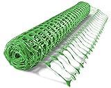 UvV ES-Team Warnnetz 4kg grün Schutznetz Fangnetz Auffangnetz Fangzaun Bauzaun Wildzaun 50 m Rolle,...