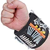 Rovtop extra starken Magnetisches Armband mit 15 kraftvollen Magneten verstellbares Klettband...