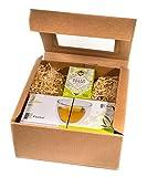 BIO-TEE GESCHENKSET / 2x 250ml Herglas doppelwandig + 1 Teebox BIO-Tee 'Hello Today' mit 20...