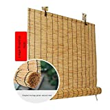 XZRR Fenster-Rollo Bambus -Bambus Jalousie-Jalousie Holz-Natur Sichtschutz,Retro, Fr...