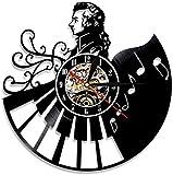 Mozart Hintergrundbeleuchtung Moderne Musiker Retro Vinyl Schallplatte Wanduhr Home Decor Kreative...