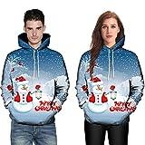 Luckycat Damen 3D Druck Sweatshirts Weihnachten Pullover mit Cartoon Aufdruck Kapuzenjacke Langarm...