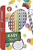 Ergonomischer Buntstift fr Rechtshnder - STABILO EASYcolors - 12er Pack mit Spitzer - mit 12...