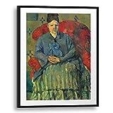Printed Paintings Passepartout (70x100cm): Paul Cézanne - Porträt der Mme Cézanne in rotem Lehnst