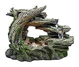 HP&G home, pets & garden Wasserbrunnen aus Polyresin, Stonewood, Zimmerbrunnen mit LED-Beleuchtung,...