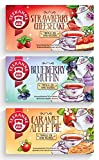 Teekanne Früchtetee 'Sweeteas' 3er Set - Strawberry Cheesecake, Blueberry Muffin, Caramel Apple Pie...
