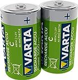 VARTA Rechargeable Accu Ready2Use vorgeladener C Baby Akku (2er Pack, 3000mAh), wiederaufladbar ohne...
