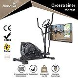 skandika Adrett Design-Crosstrainer mit Bluetooth, App-Steuerung, Tablethalterung,...