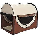 Pawhut Hundetransportbox Hundebox Transportbox Faltbare für Tier Hunde Welpen Katzen...