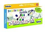 Beleduc 52060 - Smooth Textile Painter, 12er Set, Wachsmalstifte, Bastelspa