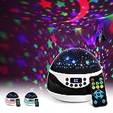 AnanBros Sternenhimmel Projektor mit Musik, Nachtlicht Baby Spieluhr mit Fernbedienung und...