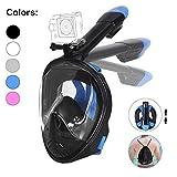 Tauchmaske, Faltbare Schnorchelmaske Tauchermaske Vollgesichtsmaske, mit 180 Grad Blickfeld und...