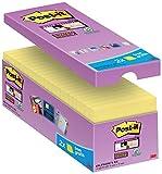 Post-it gelbe Haftnotizen (16er Pack Sticky Notes, gelbe Klebezettel und Haftnotizzettel,...