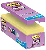 Post-it gelbe Haftnotizen (16er Pack Sticky Notes, gelbe Klebezettel und Haftnotizzettel,...