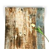 Holztapete, braun, selbstklebend, Streifen, abziehen und aufkleben, gek|rntes Kontaktpapier,...