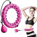 FeelGlad Huula Hoop, Einstellbar Fitnessreifen mit Massagenoppe, Nicht fällt und 24 Abnehmbare...