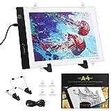 Magicfly Leuchttisch Leuchtplatte Licht Pad A4 LED, Dimmbare LED Pad, Tragbare Lichtkasten...