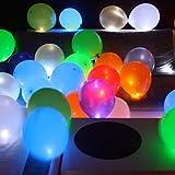 Trendario 15 LED leuchtende Luftballons - Bunt - schöne Ballons mit Licht Party, Geburtstag,...