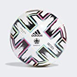 adidas Boys UNIFO LGE J350 Soccer Ball, White/Black/Signal Green/Bright Cyan, 4