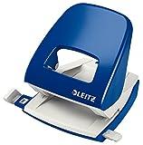 Leitz 50080035 Locher (30 Blatt, Anschlagschiene mit Formatvorgaben, Metall, New NeXXt) blau