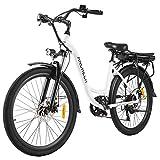 ANCHEER 26' Elektrofahrrad, Stadt E-Bike Cruiser mit Abnehmbarer 12,5Ah-Akku im Heckrahmen 30 Meilen...